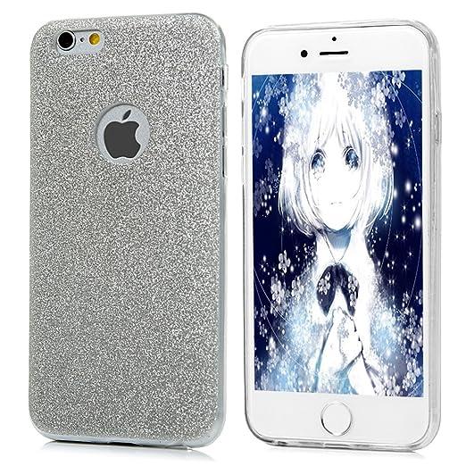 """32 opinioni per iPhone 6 6s Custodia Silicone Con Glitter Bling Cover(4.7"""")- Mavis's Diary"""
