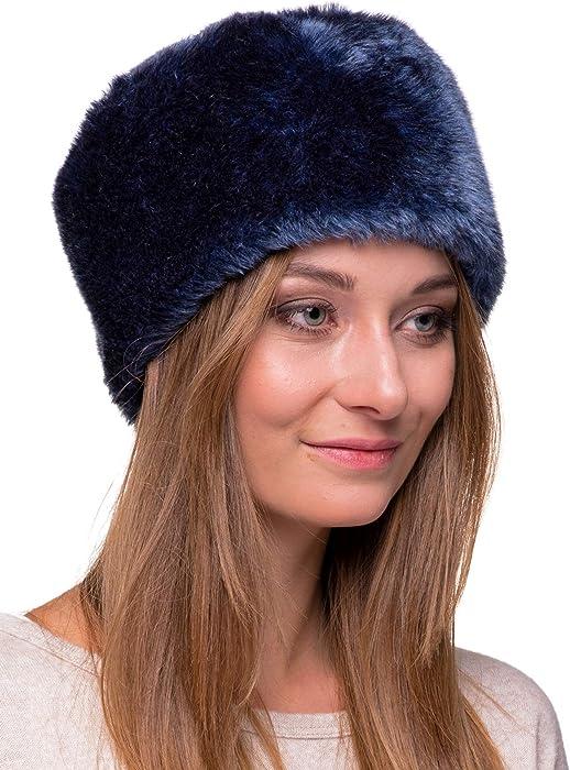 Futrzane Cappello di Pelliccia da Donna Russo Cosacco in Pelliccia di  Coniglio 922abef9cbb8