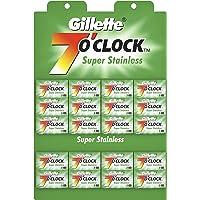 Gillette 7 o'clock Super Stainless Blade (20 Pcs X 5 Blade)