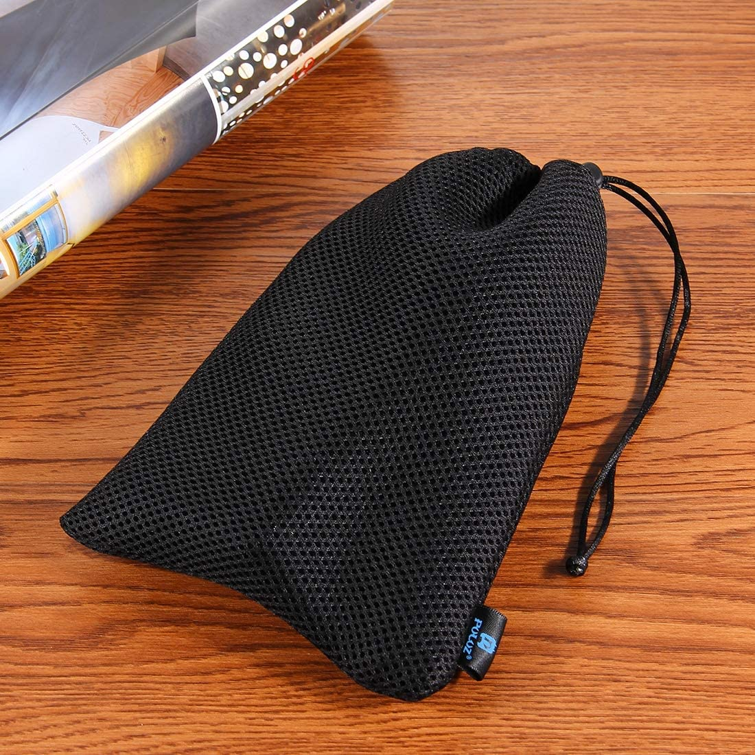 Black Durable Size: 21.5cm x 15.5cm GuiPing Nylon Mesh Storage Bag with Stay Cord for GoPro New Hero //HERO6 //5//4 Session //4//3+ //3//2 //1 U6000 and Other Sport Cameras Accessories Color : Grey