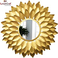 Furnish Craft Designer Sunflower Leaf Wall Mirror
