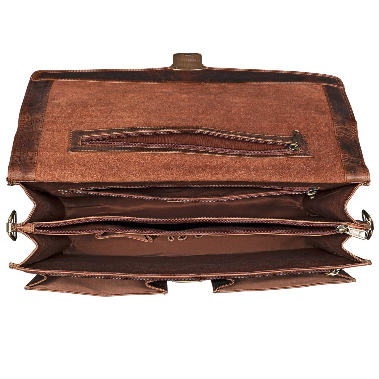STILORD Julian Cl/ásico malet/ín de Piel Vintage para Hombres y Mujeres Bolso de Negocios Mano para Trabajo Oficina y port/átil de 15,6 de aut/éntico Cuero Color:Kara Cognac