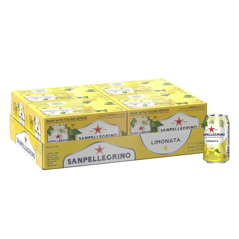 Sanpellegrino Lemon Sparkling Fruit Beverage, 11.15 Fl. Oz Cans (24 Pack)