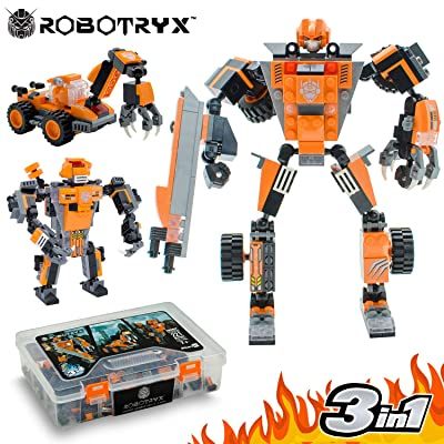 JITTERYGIT Robot STEM Toy | 3 in 1 Fun Creative Set | Construction Building Toys for Boys and Girls Ages 6-14 Years Old | Best Toy Gift for Kids | Free Poster Kit Included: Toys & Games