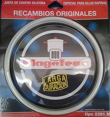 Magefesa Junta de Olla, Silicona, Blanco, 22 cm
