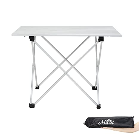 Attirant Folding Camping Collapsible Table Aluminum Foldable Portable Compact  Ultralight Roll Up Small Medium Large Size For