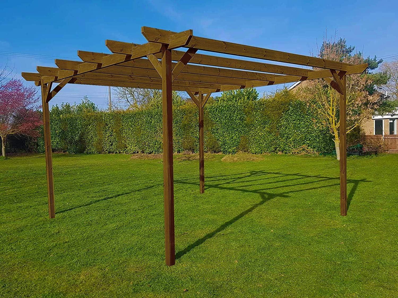 Arbor Garden Solutions Kit de pérgola de jardín de Madera Chamfered – Exclusiva Gama de pérgola – más Grande en Amazon: Amazon.es: Jardín
