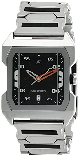 29de66eb2e6fa0 Image Unavailable. Image not available for. Colour  Fastrack Party Analog  Black Dial Men s Watch ...
