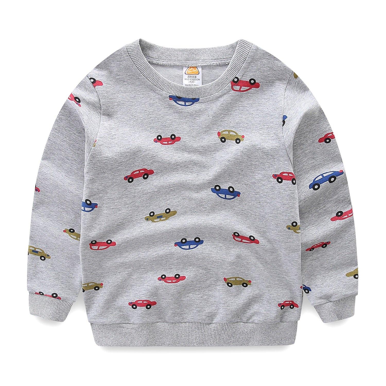 Mud Kingdom Boys Cars Sweatshirts Cute Long Sleeve Tops SS0359