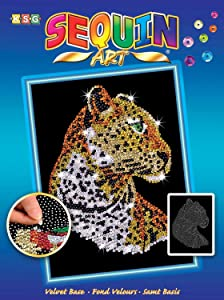 Sequin Art Blue, Leopard, Sparkling Arts and Crafts Picture Kit, Creative Crafts