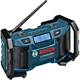 Bosch PB180 18-Volt Lithium-Ion or 120V Compact AM/FM Radio with MP3 Player Connection Bay
