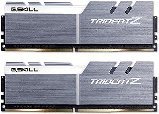 Gskill F4-3200C16D-16GTZSW Memoria DDR4 Trident Z Kit 2 x 8 GB, 3200 MHz, Color Gris/Blanco