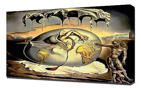 Salvador Dali – Niño Geopolítico Mirando el Nacimiento del Hombre Nuevo – Canvas Art Print