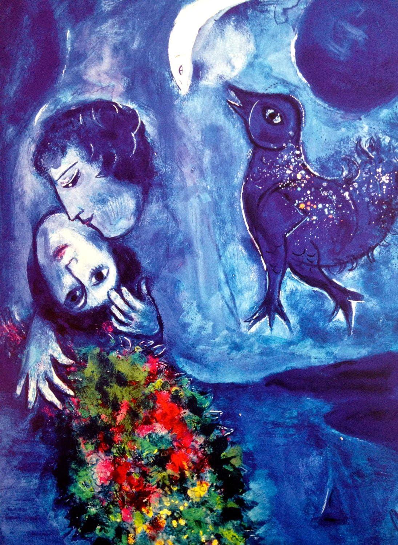 "/""Le Paysage Bleu/"" Framed Print by Marc Chagall"