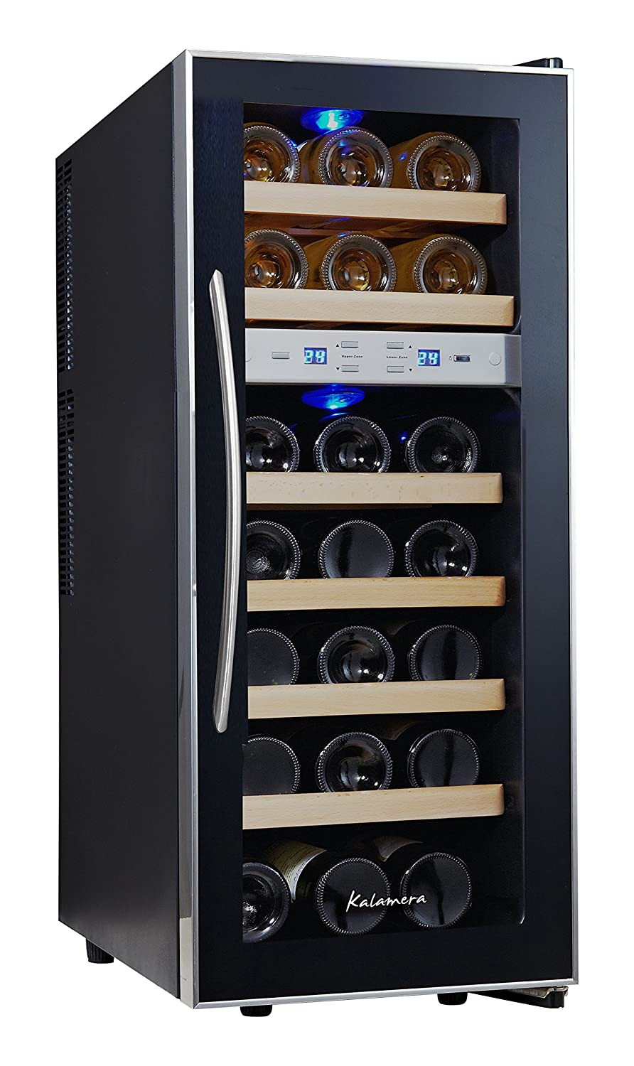 Kalamera 21 Bottle Dual Zone Freestanding Thermal Wine Cooler Free Standing
