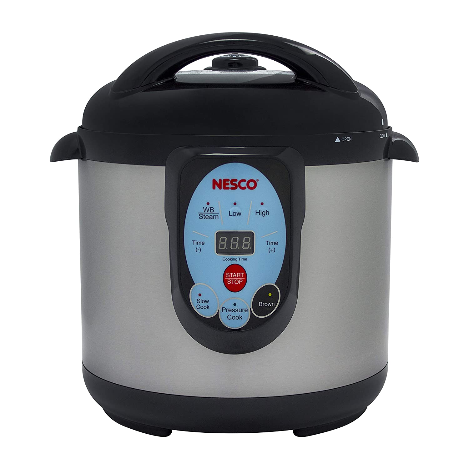 NESCO NPC-9 Smart Pressure Canner and Cooker, 9.5 quart, Stainless Steel