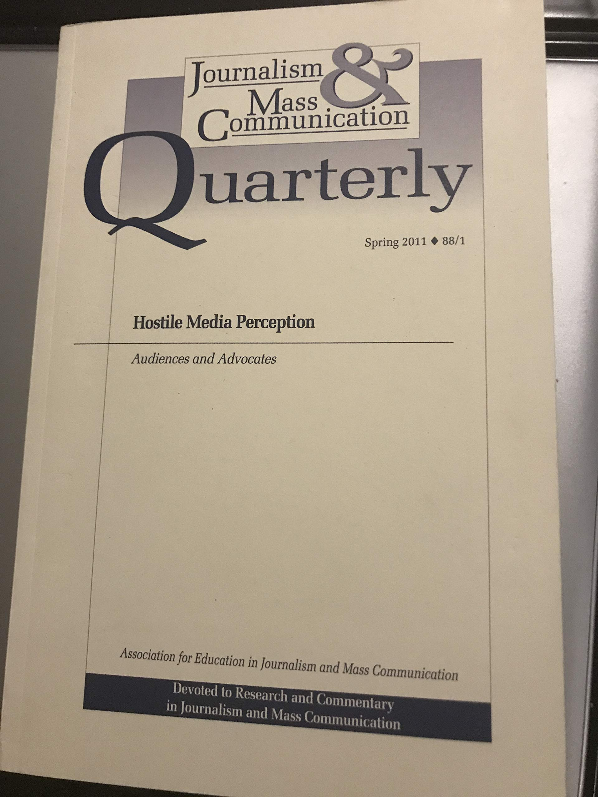 Journalism and Mass Communication Quarterly, Spring 2011 ...