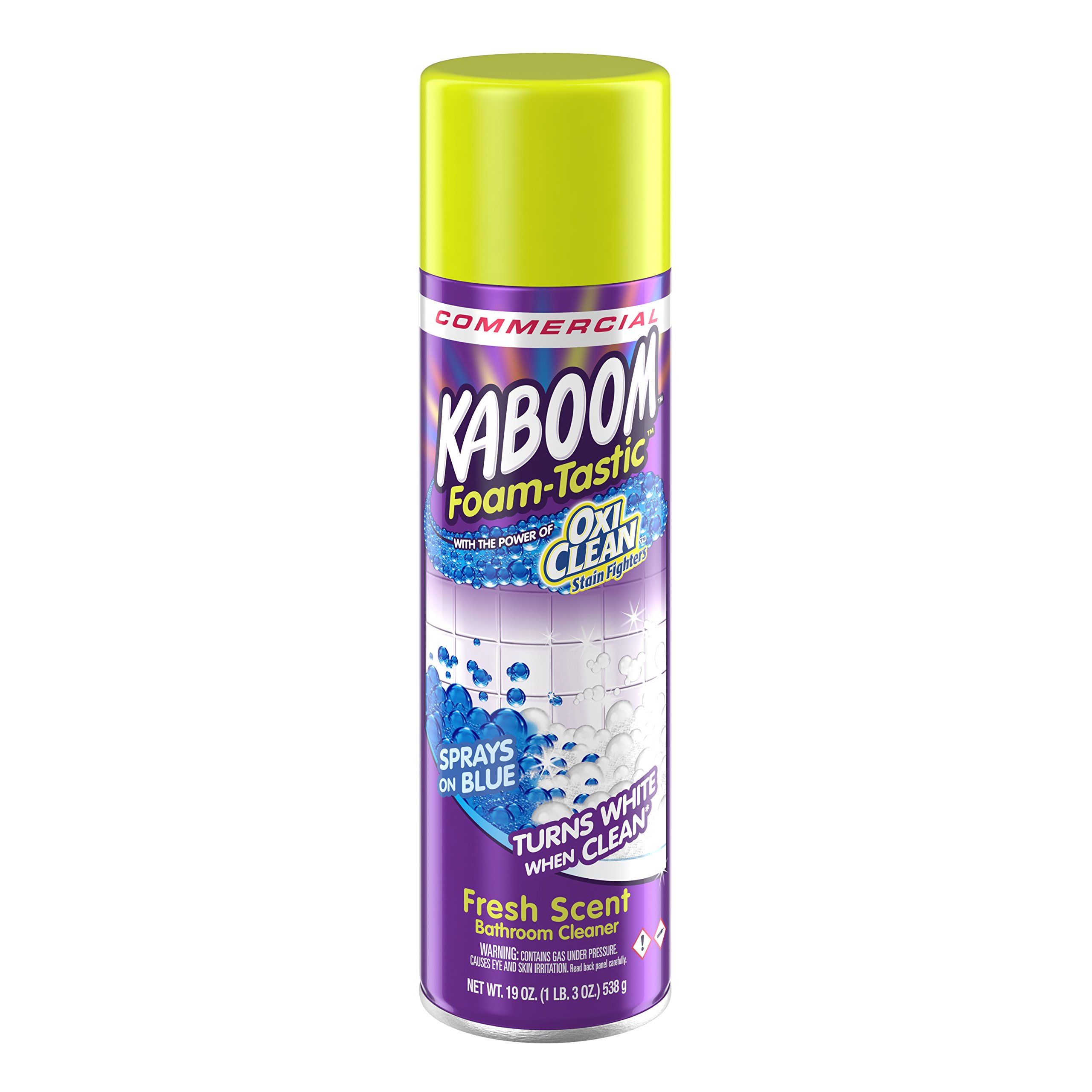 Arm & Hammer 57037-35270 Kaboom Foam-Tastic with OxiClean Fresh Scent, 19 oz (Pack of 8)