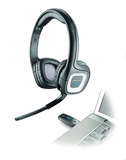 Plantronics Audio 995 - Auriculares de diadema abiertos inalámbricos, negro