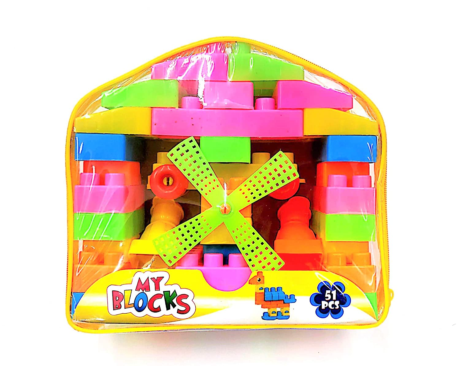 Amazing Building Block for Kids ,51 Pcs Bag Packing
