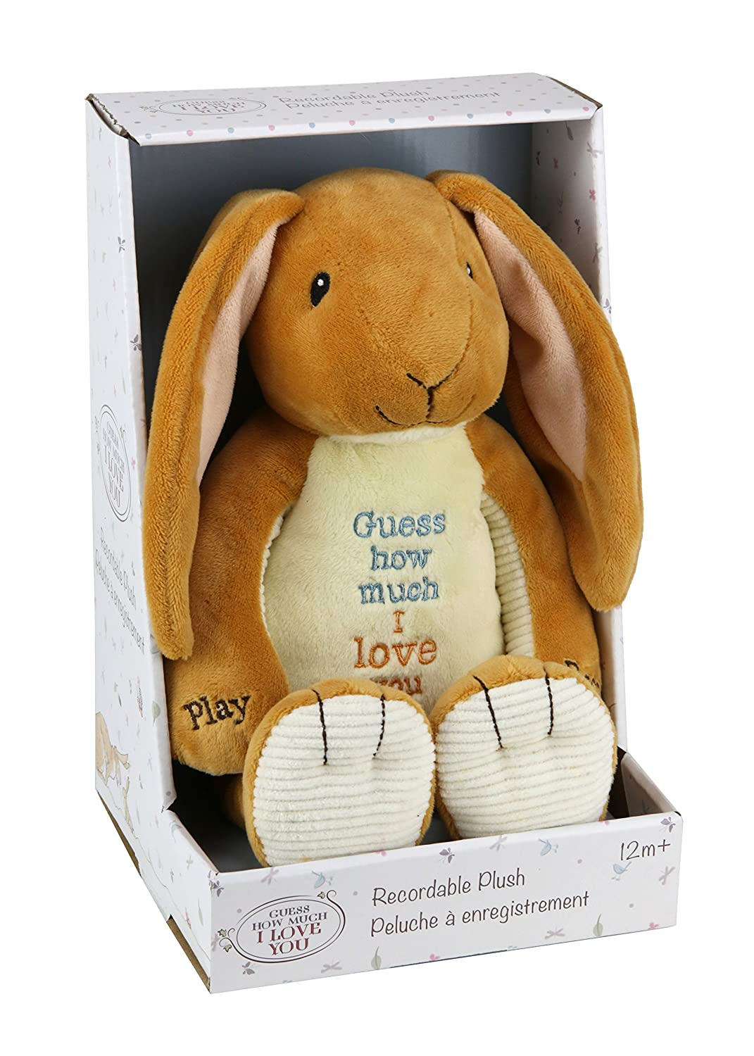 Amazon.com: Kids Preferred Guess How Much I Love You Nutbrown Hare Recordable Plush, 12