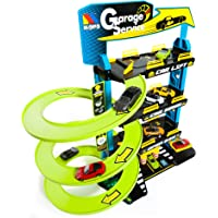 Molto- Garage Service Estacionamiento de Juguete con 4