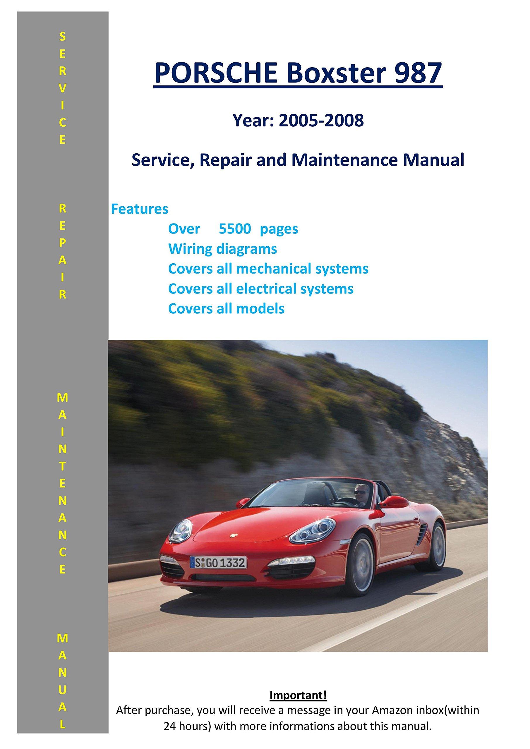 porsche boxster 987 from 2005-2008 service repair maintenance manual map –  2010