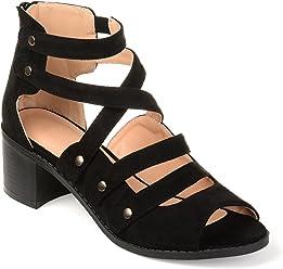 e892d106da6b Journee Collection Womens Multi-Strap Open-Toe Heeled Sandals