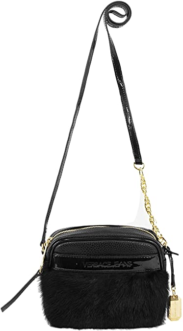 55eb6feedd4f Versace Jeans Womens Pebble Fur Crossbody Bag Black  Amazon.co.uk  Shoes    Bags