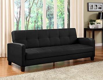 amazon com dhp delaney sofa sleeper in rich faux leather rh amazon com Futon Sofa Sleeper Sleeper Sofa Product
