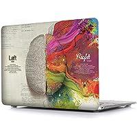 "iCasso Carcasa de plástico duro con arte impreso mate para MacBook Air 13 pulgadas, cubierta protectora para Apple laptop MacBook Air 13"" modelo A1369/A1466, Left and Right Brain"