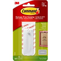 Command Sawtooth Hanger, 1-Hanger, 2-Strips, Decorate Damage-Free