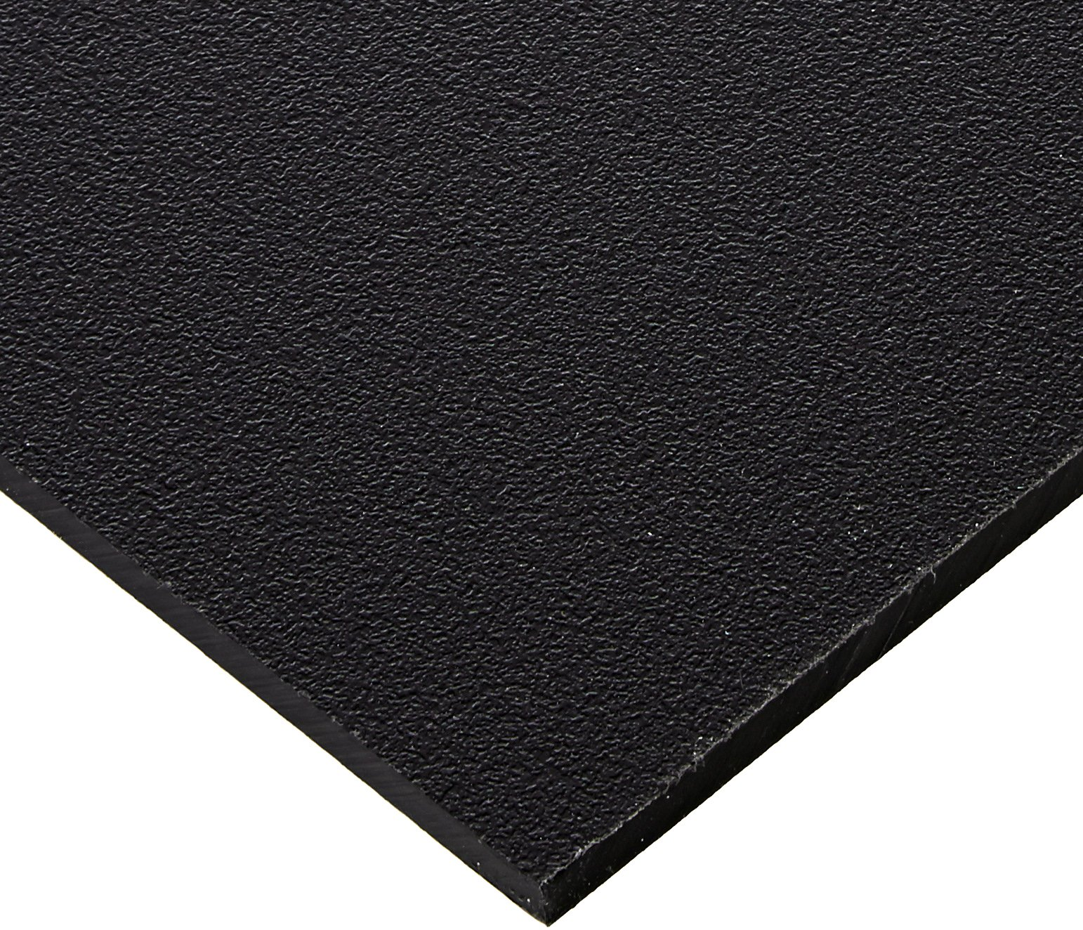 Seaboard High Density Polyethylene Sheet, Matte Finish, 1/4'' Thick, 24'' Length x 48'' Width, Black