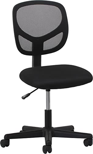 OFM Essentials Collection Mesh Back Office Chair, Armless, in Black ESS-3000