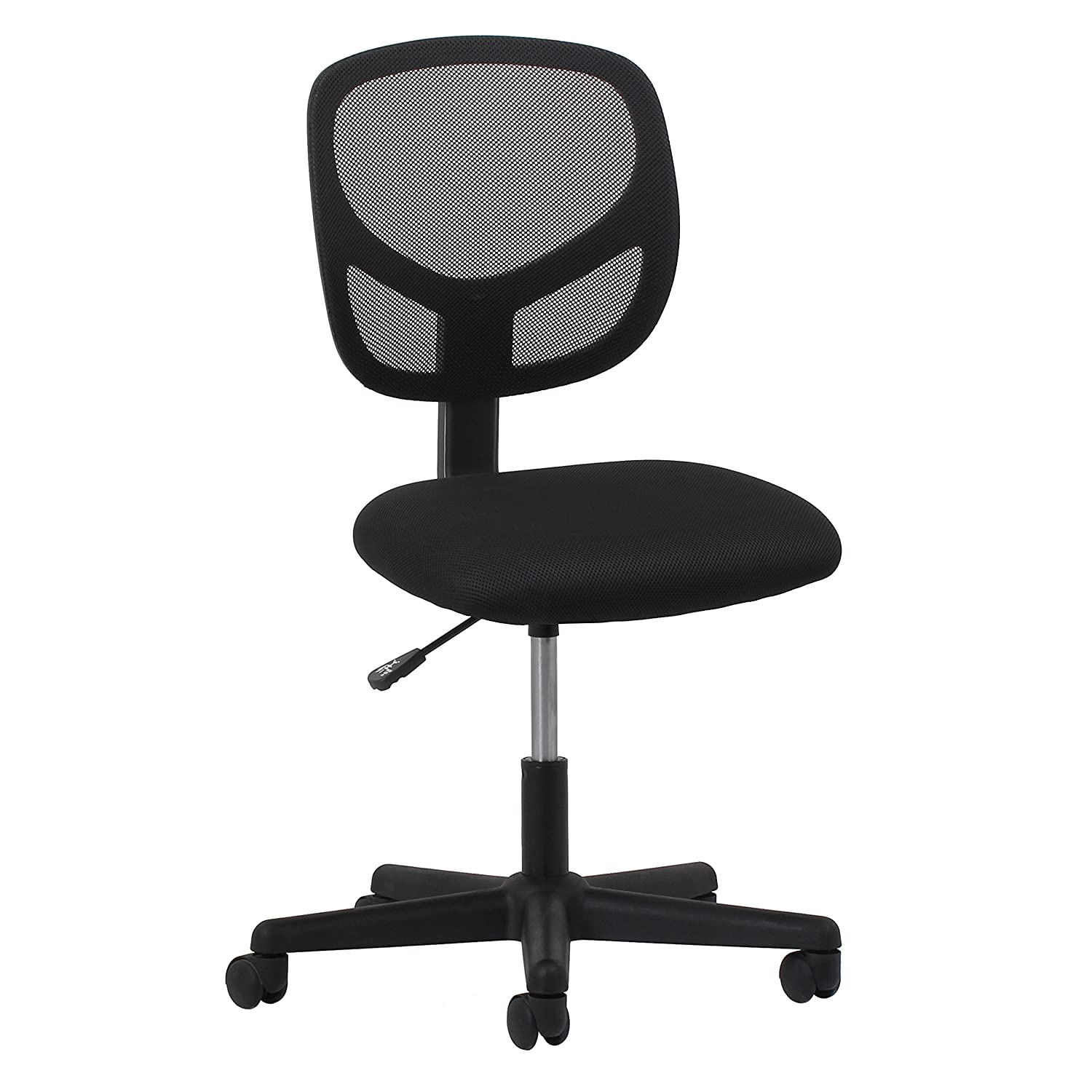 Amazon.com: Essentials Swivel Armless Mid Back Mesh Task Chair   Ergonomic  Computer/Office Chair (ESS 3000): Kitchen U0026 Dining