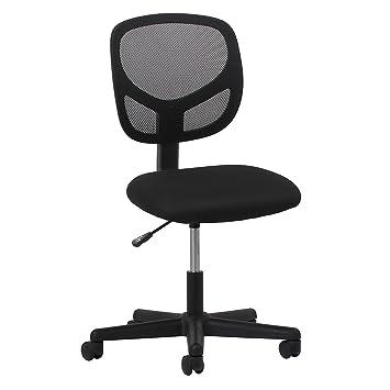 Beautiful Essentials Swivel Armless Mid Back Mesh Task Chair   Ergonomic Computer/Office  Chair (ESS