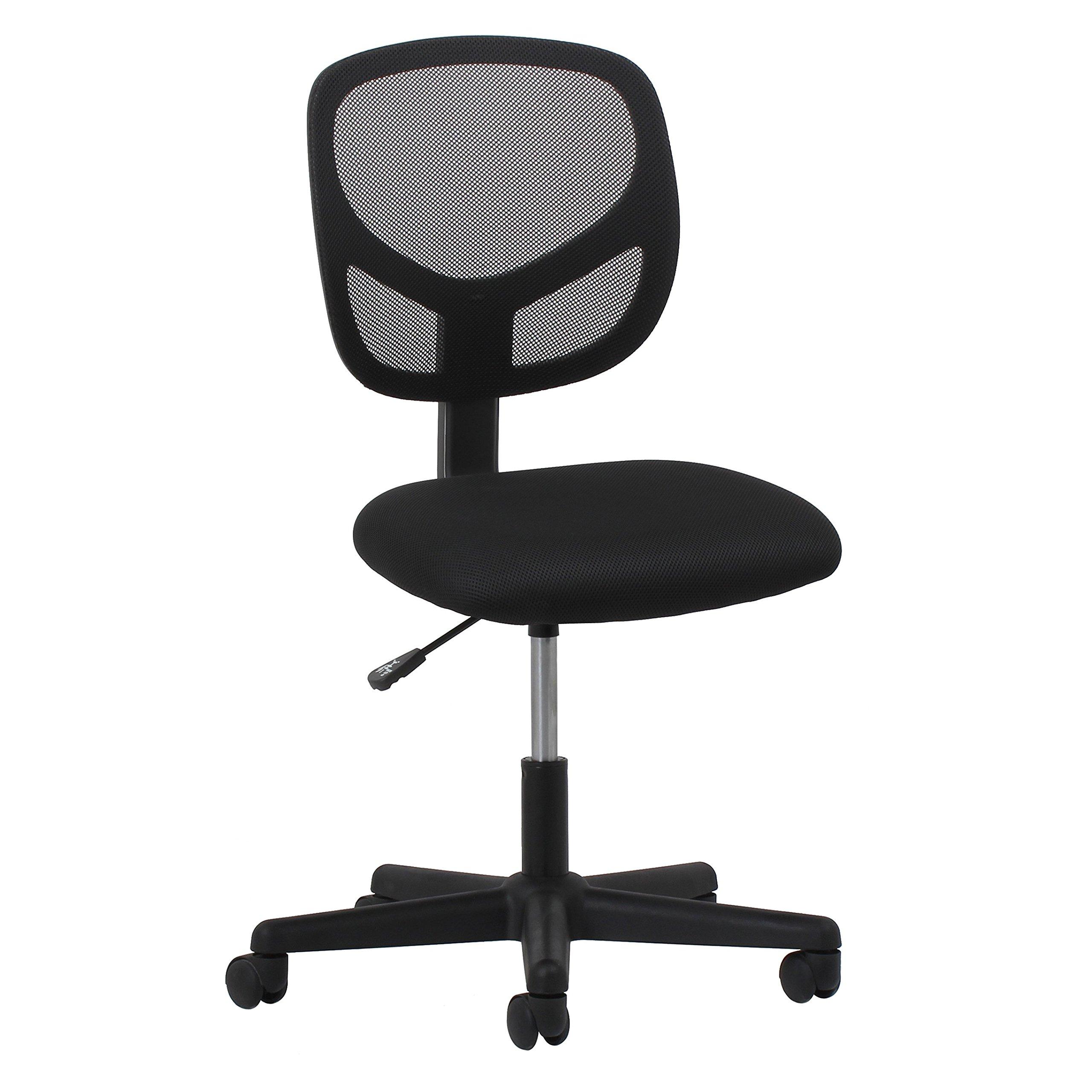Essentials Swivel Armless Mid Back Mesh Task Chair - Ergonomic Computer/Office Chair (ESS-3000)