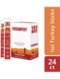 Vermont Smoke & Cure Jerky Sticks - Antibiotic Free Turkey - Gluten Free - Great Keto Snack, High in Protein & Low Sugar...