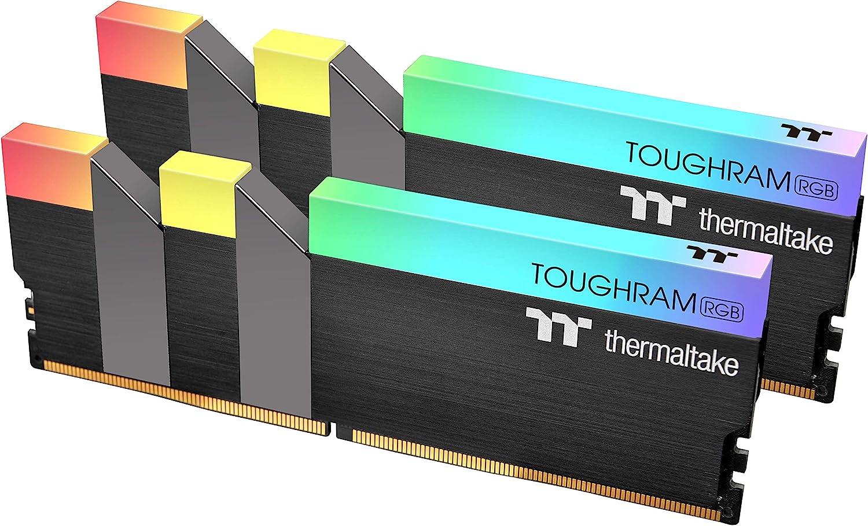 Thermaltake TOUGHRAM RGB DDR4 3200MHz 16GB (8GB x 2) 16.8 Million Color RGB Alexa/Razer Chroma/5V Motherboard Syncable RGB Memory R009D408GX2-3200C16A