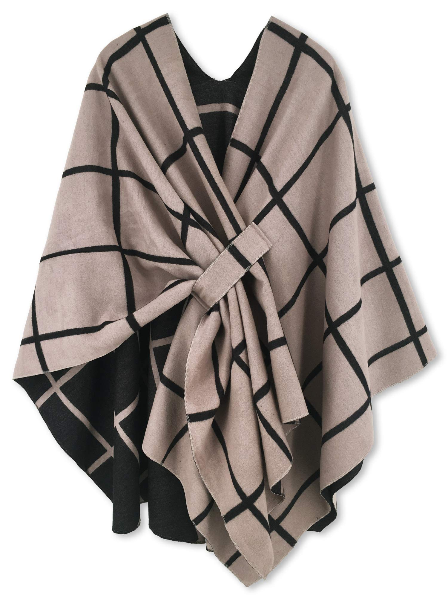 Women Poncho Shawl Cardigan Open Front Elegant Cape Wrap by Moss Rose