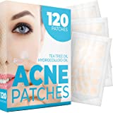 Acne Patches (120 Pack) - Tea Tree Oil and Hydrocolloid Acne Patches for Face (3 Sizes), Pimple Patch, Zit Patches, Acne…