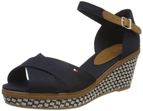 Tommy Hilfiger Women's Iconic Elba Basic Ankle Strap Sandals, Blue  (Midnight 403),