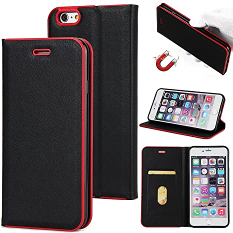 JHTC Flip Funda para iPhone 6 Plus / iPhone 6S Plus Carcasa ...
