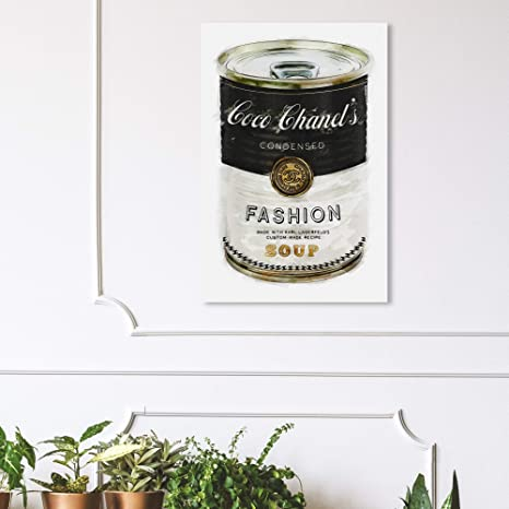 Amazon Com The Oliver Gal Artist Co Glam Wall Art Canvas Prints Fashion Soup Home Décor 24 X 36 Black Gold Home Kitchen