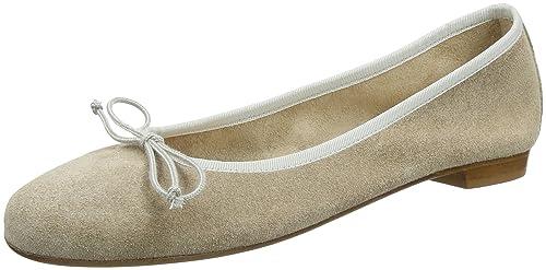 quite nice 7a2ad 53017 Fred de la Bretoniere Women's Leder Ballerina Closed Toe ...