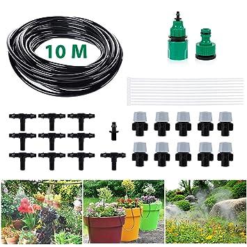 Bewässerungssysteme 40m Automatic Micro Drip Irrigation Watering Hose Bewässerung Gewächshaus Hose