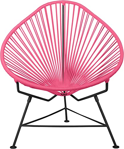 Innit i01-01-05 FBA_38353 Acapulco Chair-Pink Weave on Black Frame