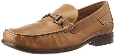 Hush Puppies Mens Cayden Circuit Tan and Light Brown Leather Loafers and Mocassins  10 UK