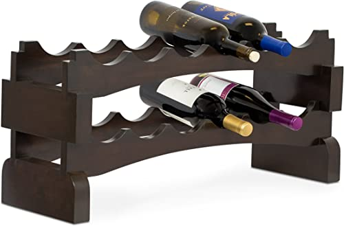 BIRDROCK HOME Stackable Wood Wine Rack