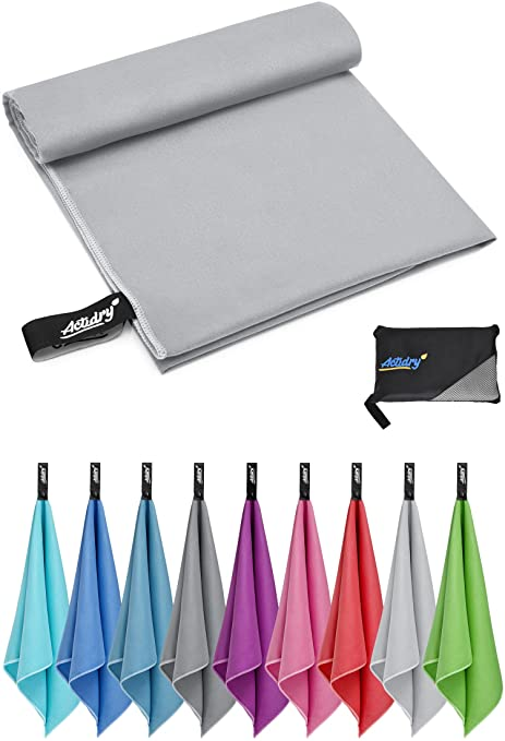 ACTiDRY Toalla de Microfibra - ligera y absorbente - 9 colores S M L XL - ideal para
